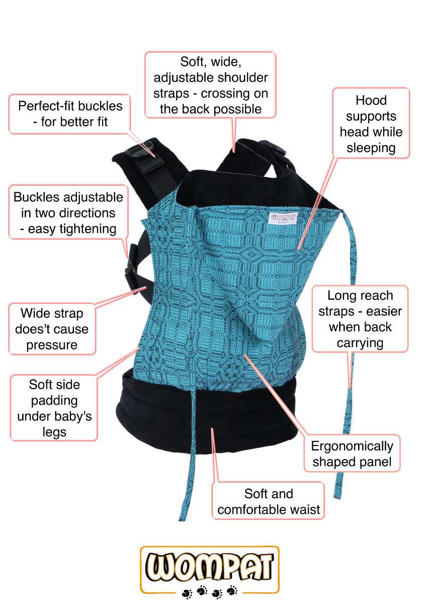 Wompat baby carrier details