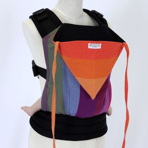 Wompat Baby Carrier Classic Rainbow Red