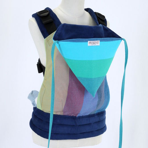 Wompat Baby Carrier Classic Rainbow Blue