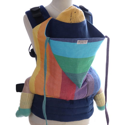 Wompat Baby Carrier Classic Rainbow White